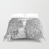 library Duvet Covers featuring the Library by KadetKat