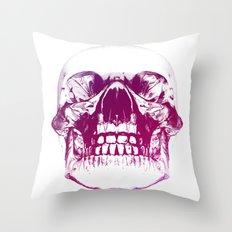 purple crystal skull Throw Pillow