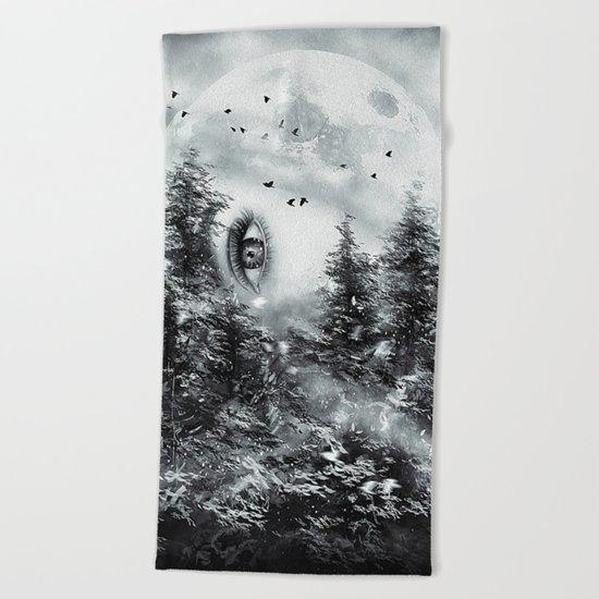 The Watcher Beach Towel