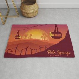 Palm Springs Valley - Sunset Horizontal Version Rug