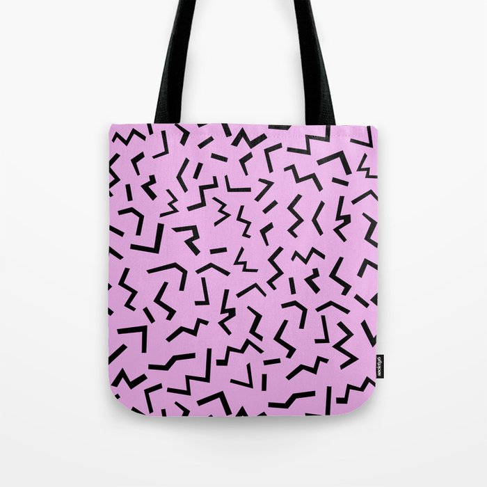Zig Zag pattern geometric angular minimal modern print design charlotte winter Tote Bag