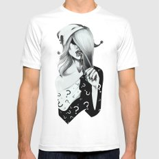 Gotham Masquerade II White Mens Fitted Tee MEDIUM