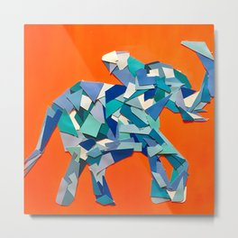Elephant collage of paint samples Metal Print