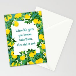 When Life Gives you Lemons for Free Stationery Cards