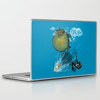 baloon Laptop & iPad Skins featuring pufferfish baloon by MR VELA