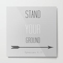 STAND Metal Print