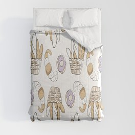 Bakery Pastry Shop Pattern Baking Goods Muffin Comforters