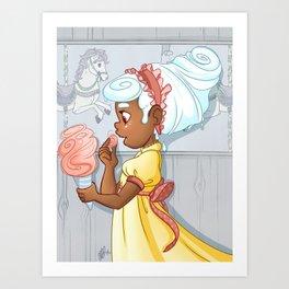 Ice Cream Carousel Art Print