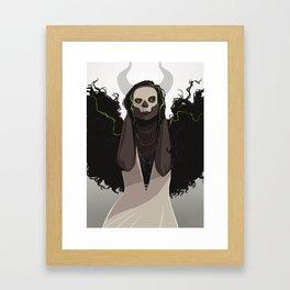 Angel or Demon? Framed Art Print