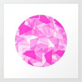Pink Geo Circle Art Print