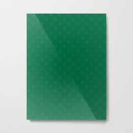 Teal Green on Cadmium Green Snowflakes Metal Print
