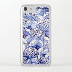 Floral tiles Clear iPhone Case