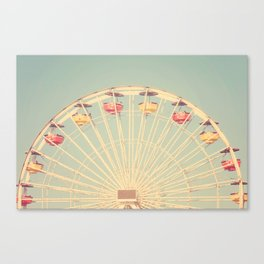 Vintage Santa Monica Pier Canvas Print