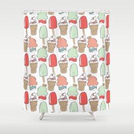 Ice Cream Cart Shower Curtain