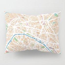Watercolor map of Paris Pillow Sham