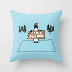 Christmas Penguin Throw Pillow