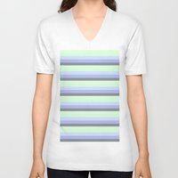 stripes V-neck T-shirts featuring stripeS by Simply Chic