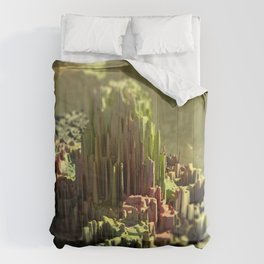 Crystal formation mountain landscape Comforters