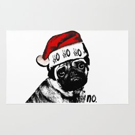 Christmas Pug Ho Ho No Rug