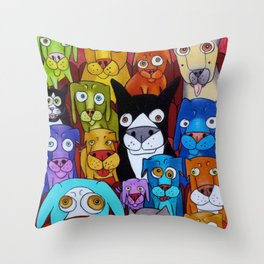 Watching Cats Throw Pillow