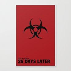 28 Days Later | Minimal Movie Poster Canvas Print