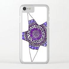 Blue/Purple Superstar Mandala Star Clear iPhone Case