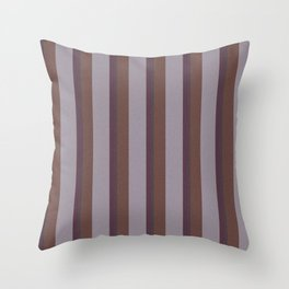 Brown Striped Lines Throw Pillow