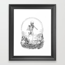 Death and Harmonica Framed Art Print
