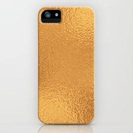 Simply Metallic in Bronze iPhone Case
