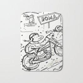Apes in Vintage Italian Motorcycle Race Bath Mat