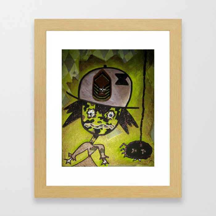 Sgt. Me of the Spider Bragade Framed Art Print