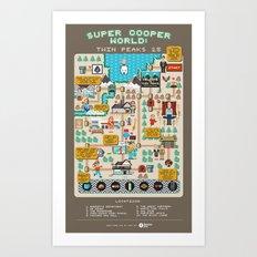 Super Cooper World: Twin Peaks 25 Art Print