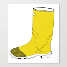 My favorite yellow boot Canvas Print