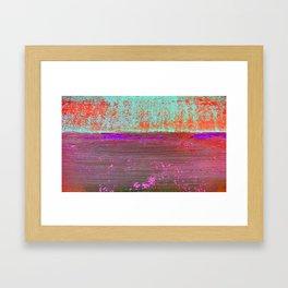 Purple Sea Framed Art Print