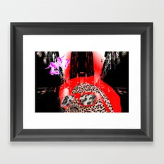 looking at a little pink city angel Framed Art Print