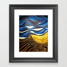 Sun and Tides Framed Art Print