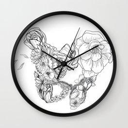 Pelvic Flora Wall Clock