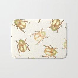 luxury golden scarab pattern Bath Mat