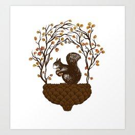 Once upon an Acorn Art Print