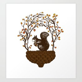 Once upon an Acorn Art Print