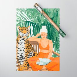 Jungle Vacay #painting #illustration Wrapping Paper