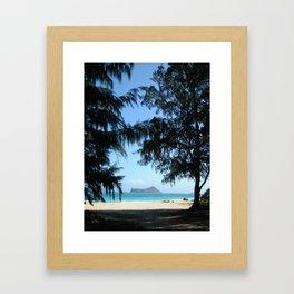 WELCOME TO WAIMANALO BEACH Framed Art Print
