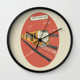 U-BAHN Wall Clock