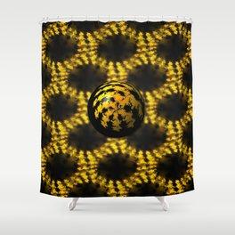 3d Fractal Ball Shower Curtain