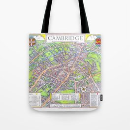 CAMBRIDGE University map ENGLAND Tote Bag