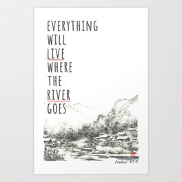 River of Living Water Art Print