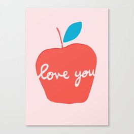 Apple Love You Canvas Print