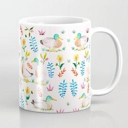 Ducks and flowers Coffee Mug