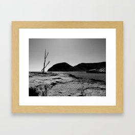 mountain and sea Framed Art Print