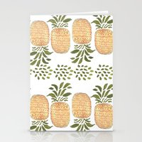 pineapples Stationery Cards featuring Pineapples by Bouffants and Broken Hearts
